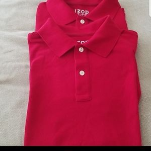 2 for $12 IZOD Red Boy's polos